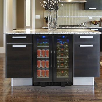 costco vinotemp vt36ts wine and beverage cooler with tinted glass doors - Vinotemp