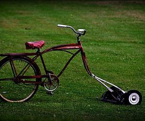 Welcome Lawn Mower Mower Bicycle
