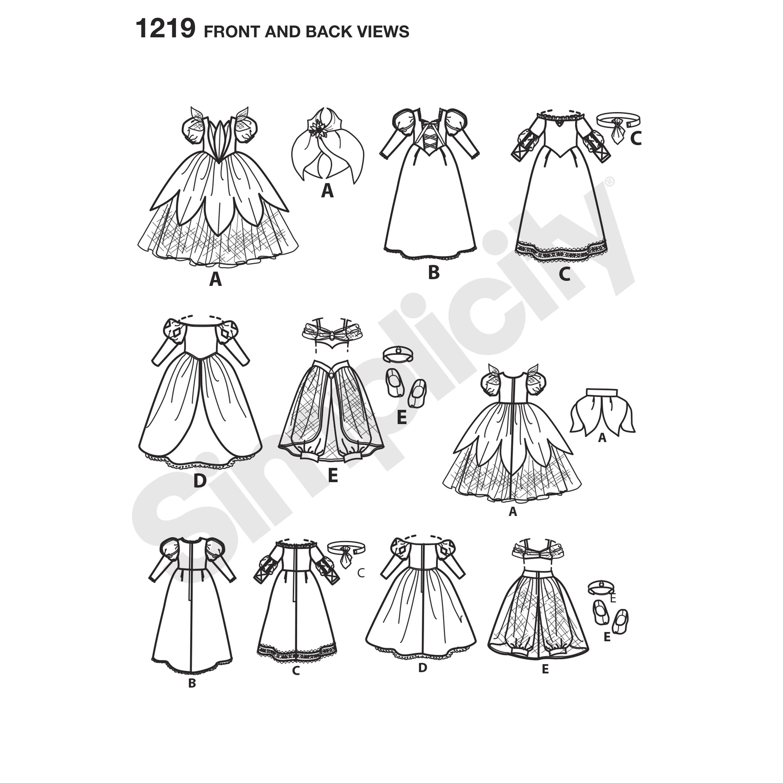 Disney Princess costume pattern for 18\