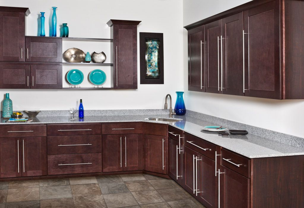 WOLF Classic Cabinets in Dartmouth Dark Sable | Kitchen ...
