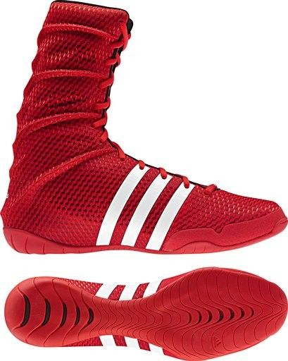 Adidas AdiPower Boxing Boot Red geezersboxing
