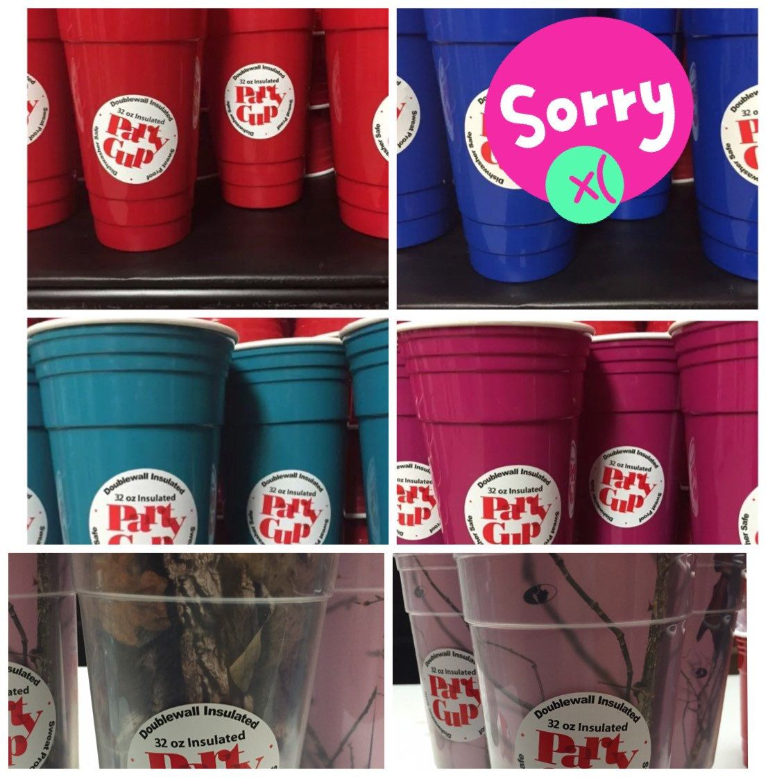 94388a86ffb LIMITED QUANTITIES * 32 oz BLANK Reusable Solo Party Cup / Double Wall  Insulated / Red Blue Teal Pink & Camo by DatVinylCreation on Etsy