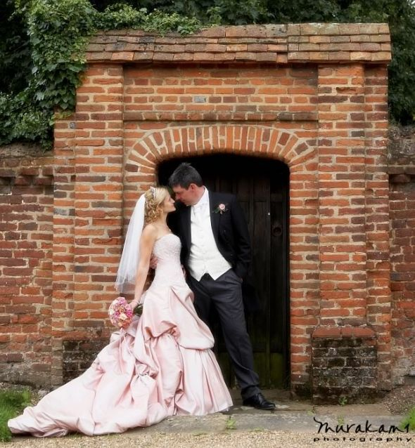 help!! What color veil to where with a blush colored dress??? :  wedding blush katharine veil Cd Romantic Wedding Portrait