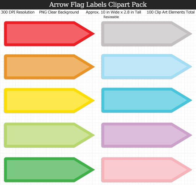 love these rainbow arrow flag label clipart for my binders and