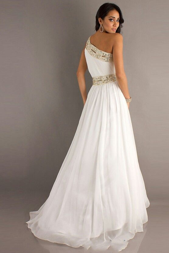 White and gold prom dress | Dressing Up | Pinterest | Gold prom ...