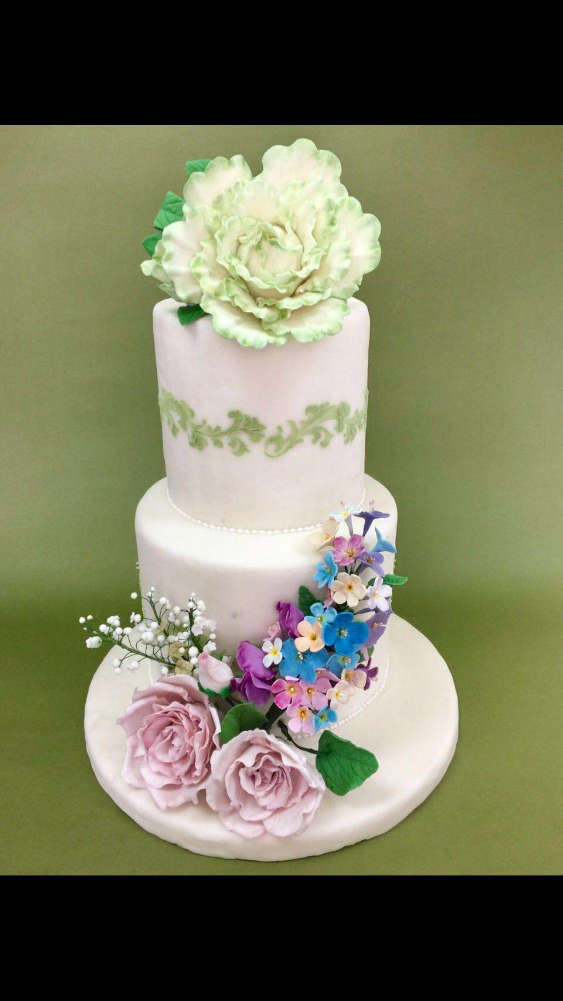 Beautiful Flowers Cake Diplomado En Diseo Y Decoracin De