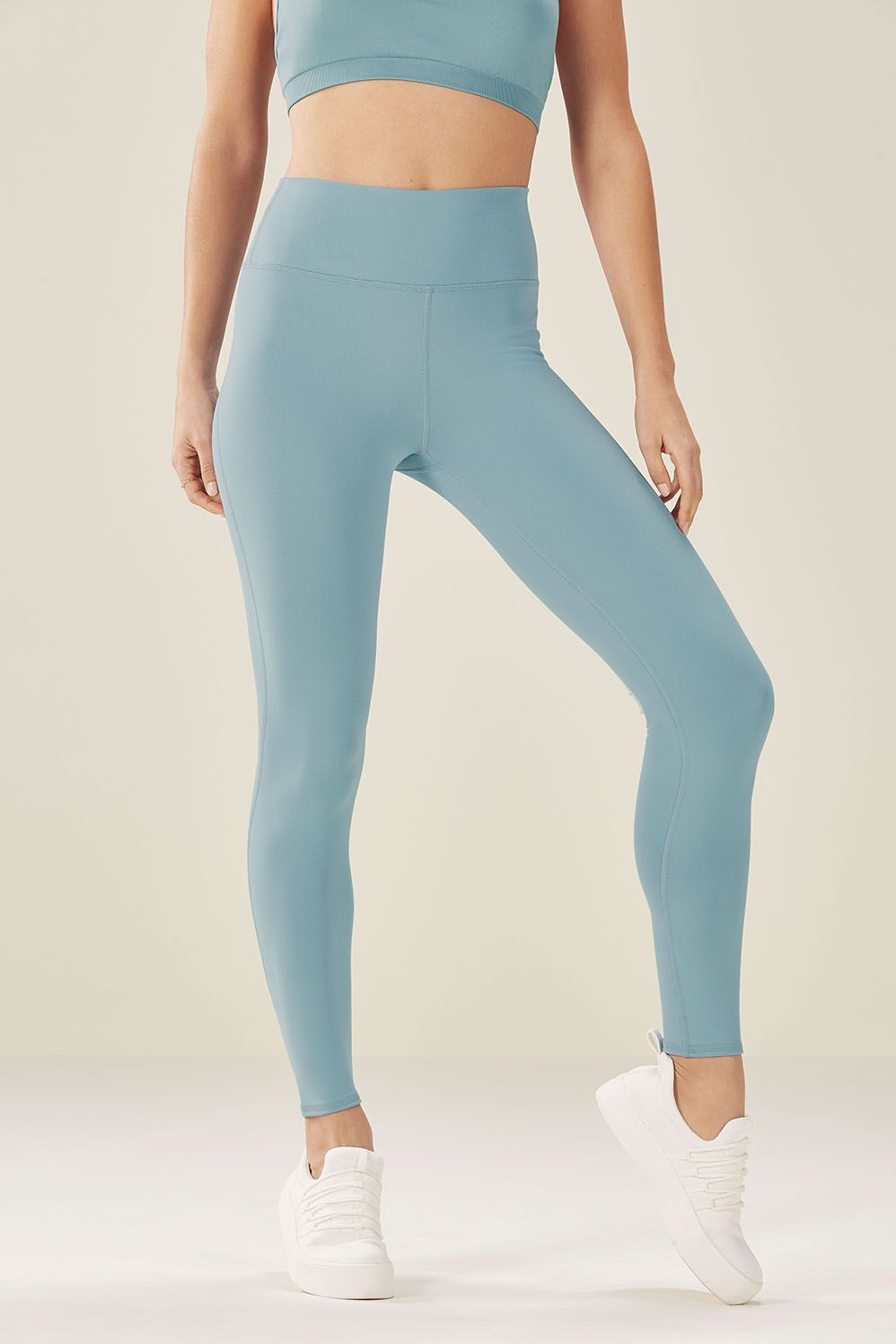 04f4ec53cd5aa5 High-Waisted Solid PowerHold® 7/8 in 2019 | workout/yoga clothes ...
