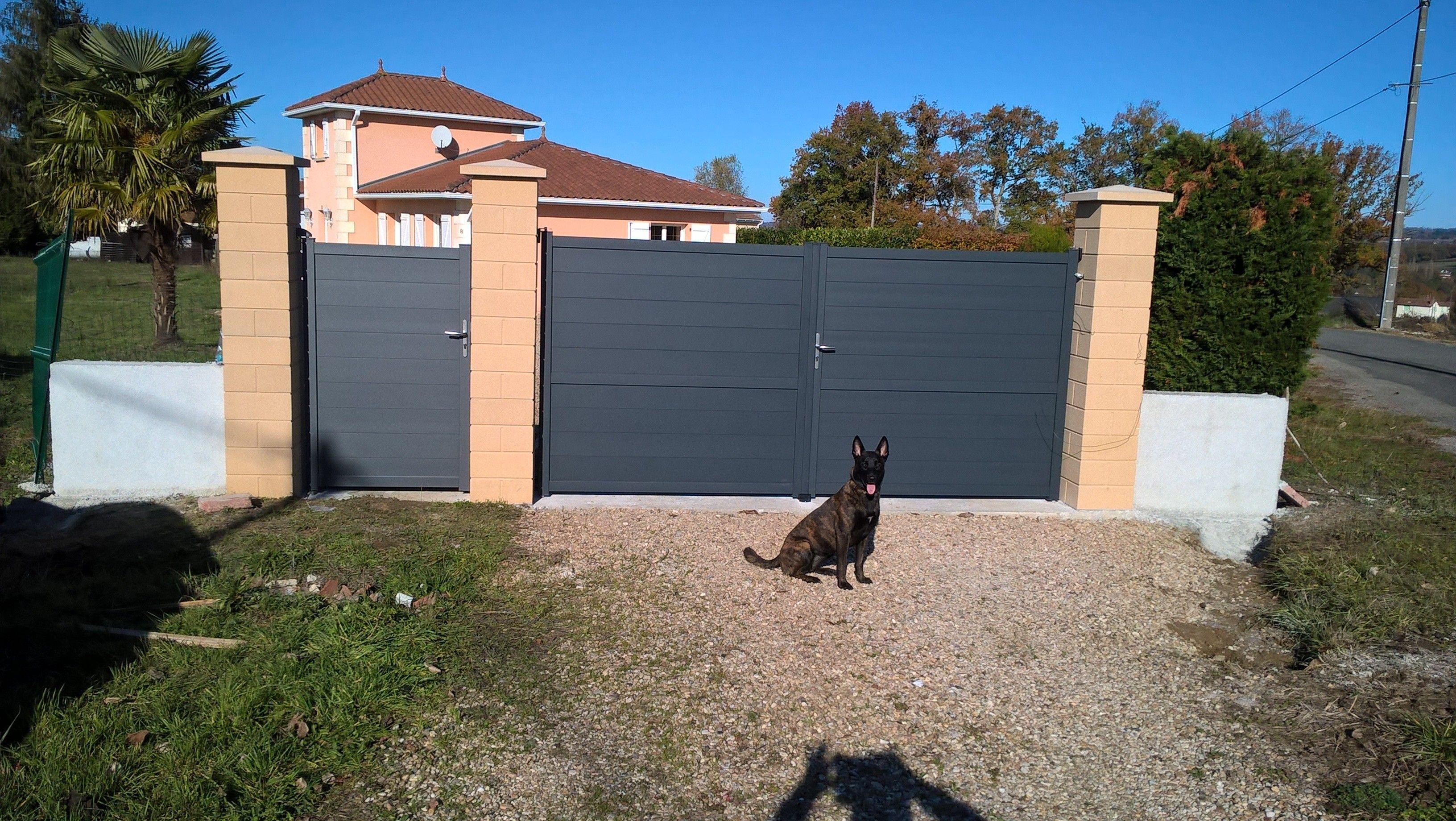 Portail Alu Perth Standard 3m H 170 Cm Portail Alu Portail Castorama