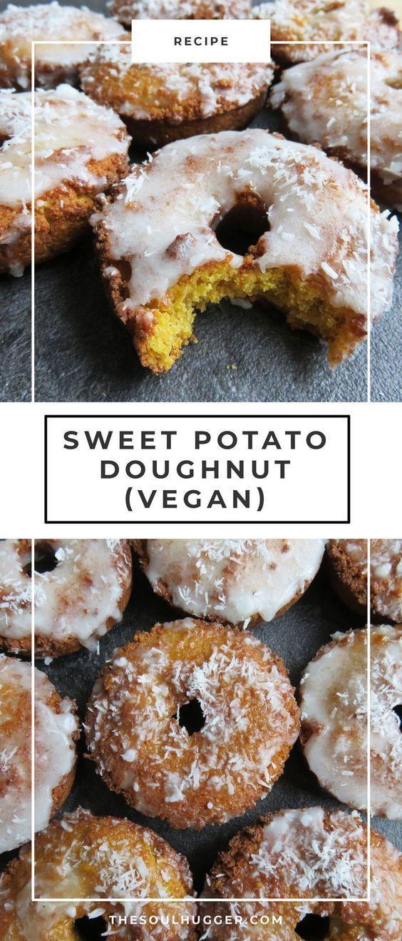 Sweet Potato and Apple Doughnuts Vegan dessert recipes