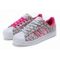 c7c6951f8f3b Chaussures de Sport Femme Adidas Superstar 2 Floral Gris Rose - 4mVv1