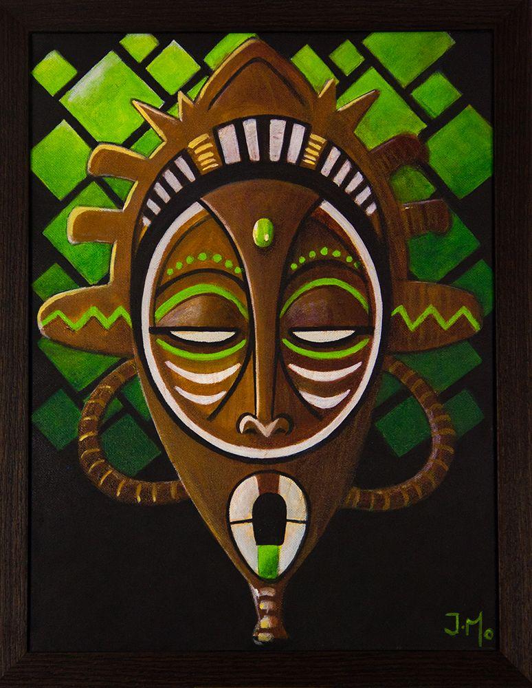 masque africain peinture