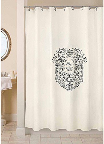 Park B Smith Ultra Spa 100 Cotton Fabric Shower Curtain French Vintage Old Fashion
