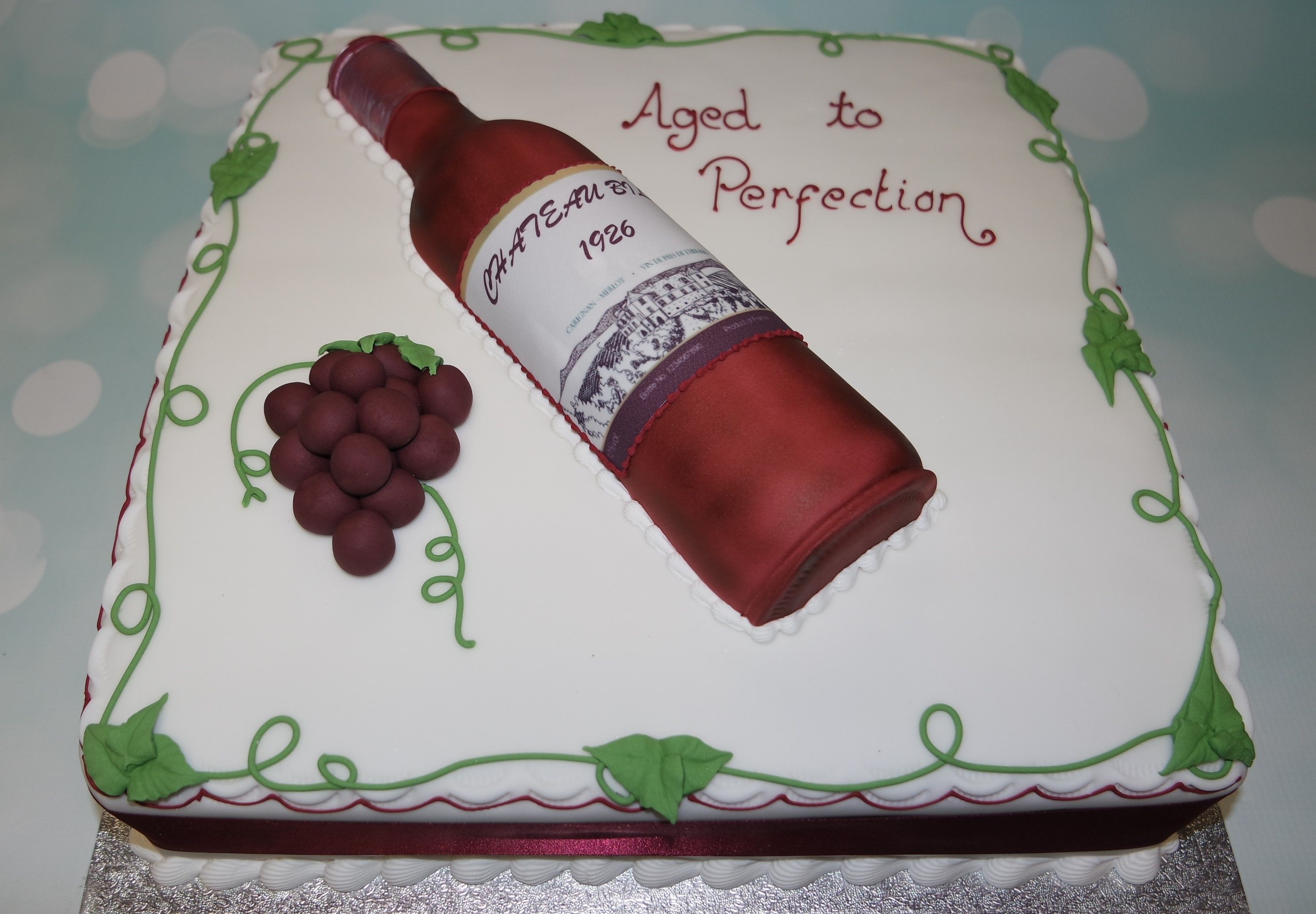 Like A Fine Wine We All Get Better With Age Wine Birthday Party Themed Birthday Cakes 50th Birthday Themes