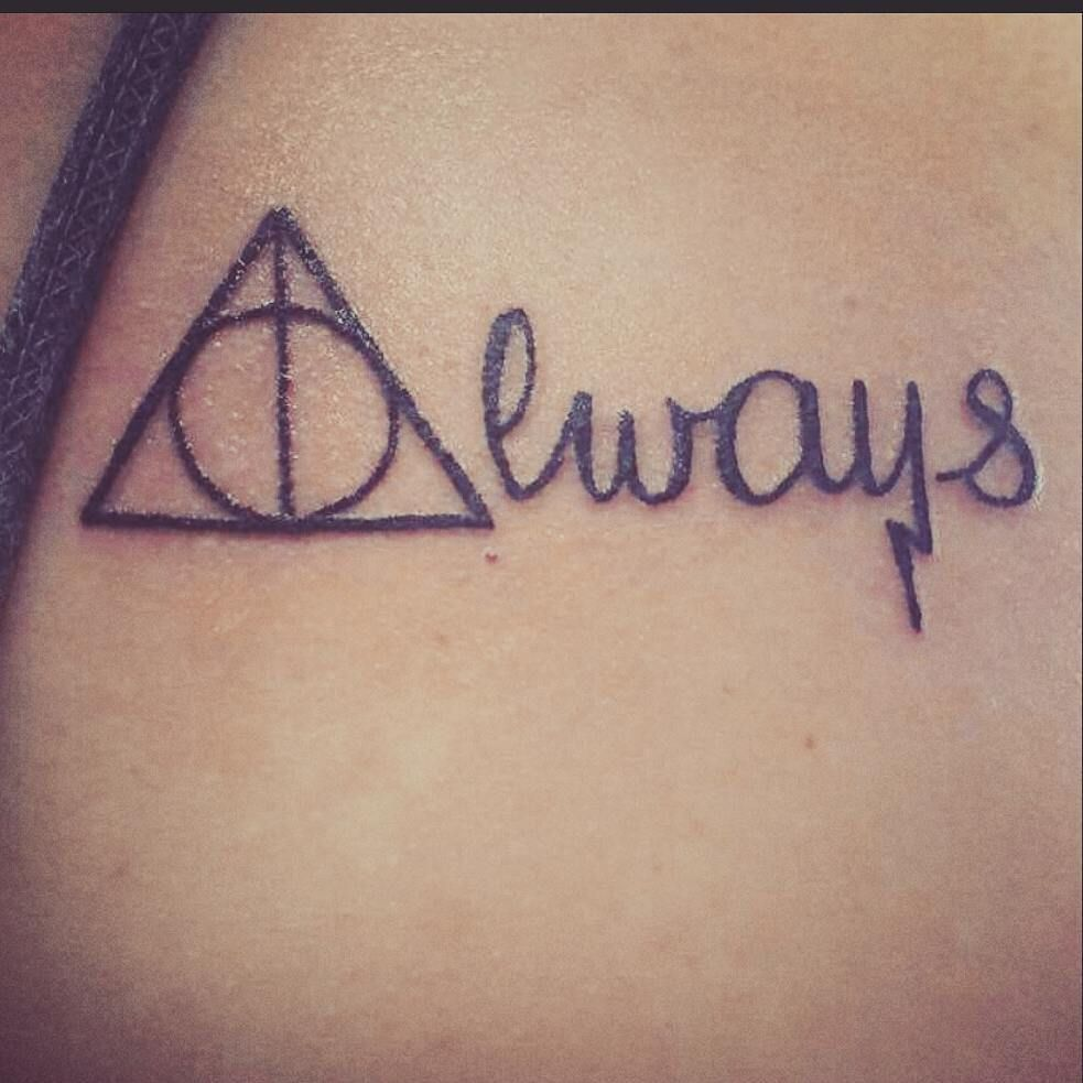 Fall Under The Spell Of These 50 Harry Potter Tattoos They Re So Good Harry Potter Quotes Tattoo Harry Potter Tattoos Always Tattoo