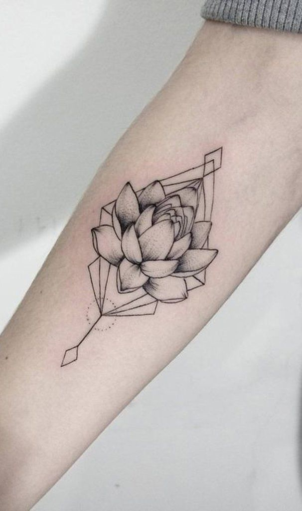 30 Delicate Flower Tattoo Ideas With Images Geometric Tattoo Arm Delicate Flower Tattoo