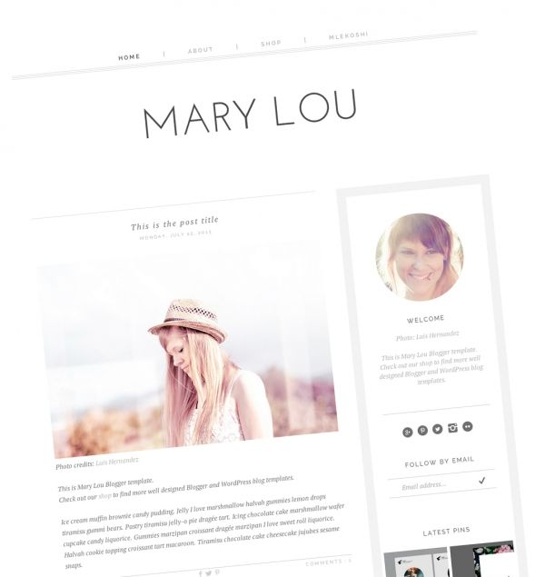 download mary lou blogger template