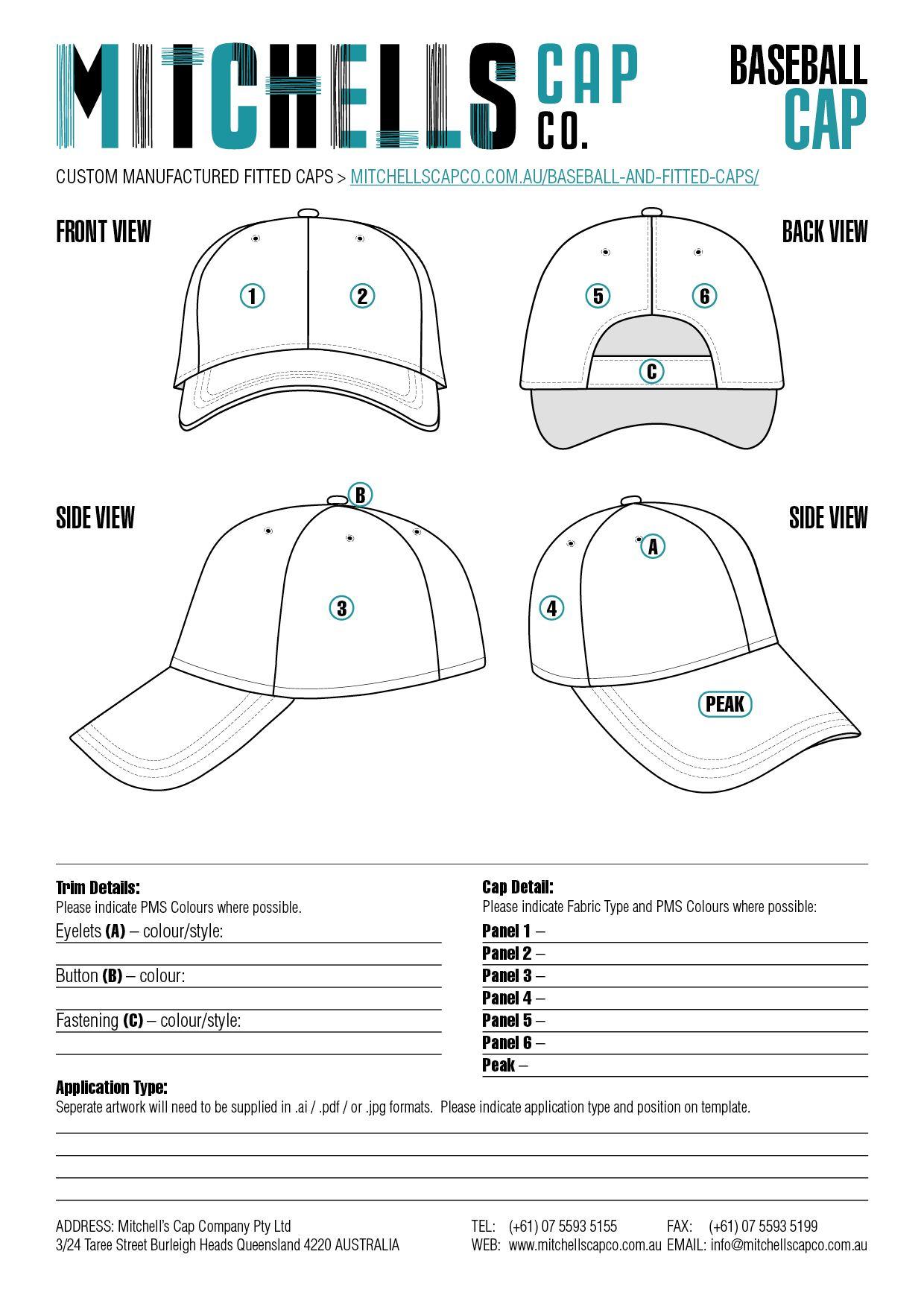 Baseball cap template patterns pinterest baseball cap baseball cap template maxwellsz