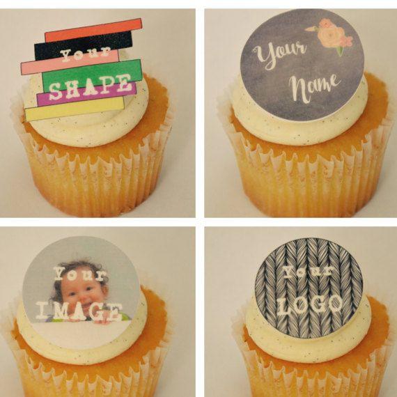 Custom Shape Cupcake Toppers
