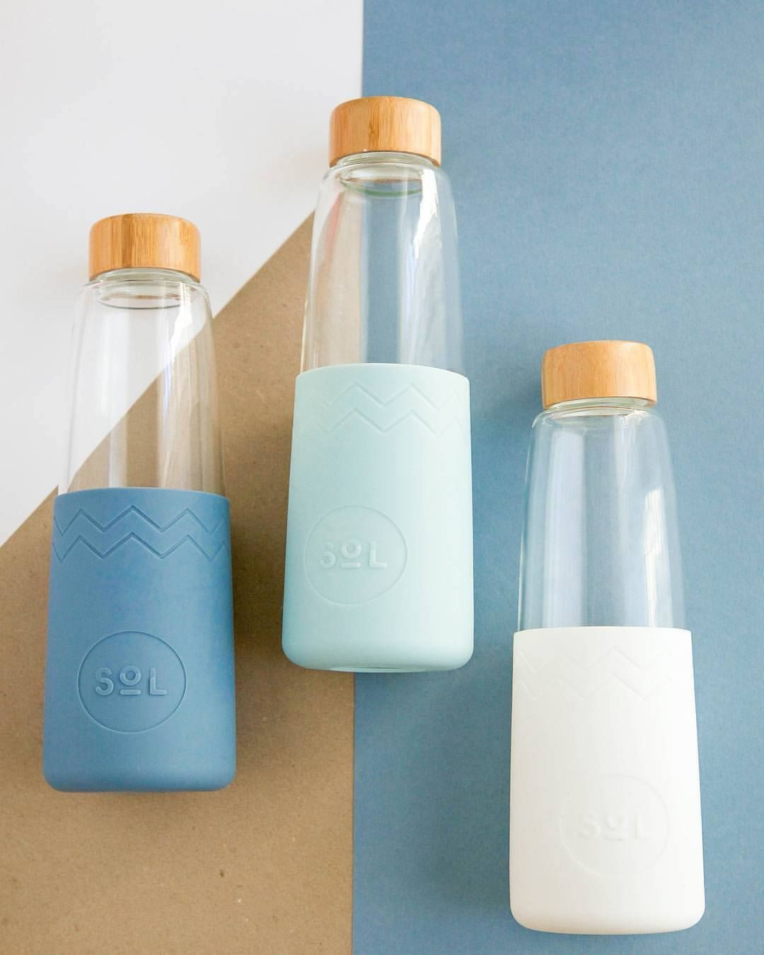 These Sol Glass Water Bottles Are Portable Convenient Aesthetically Pleasing And Infinitely Reusable The Durable And Water Bottle Glass Water Bottle Bottle