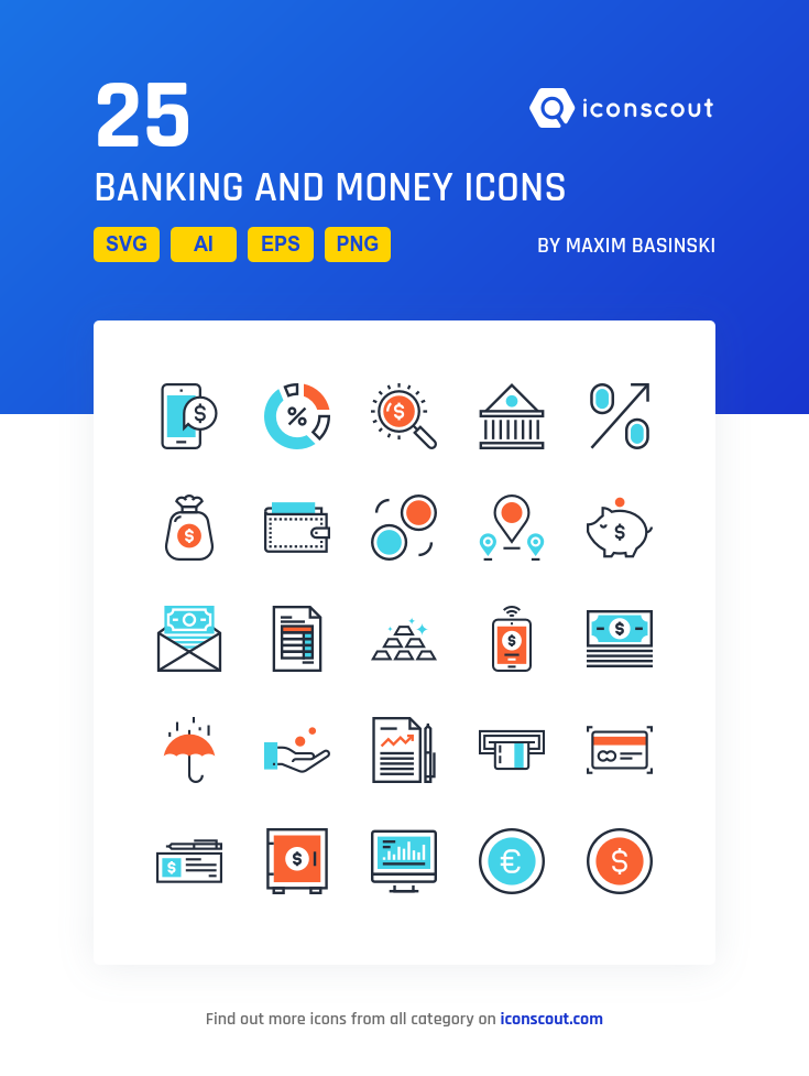 Download Banking And Money Icon pack Available in SVG