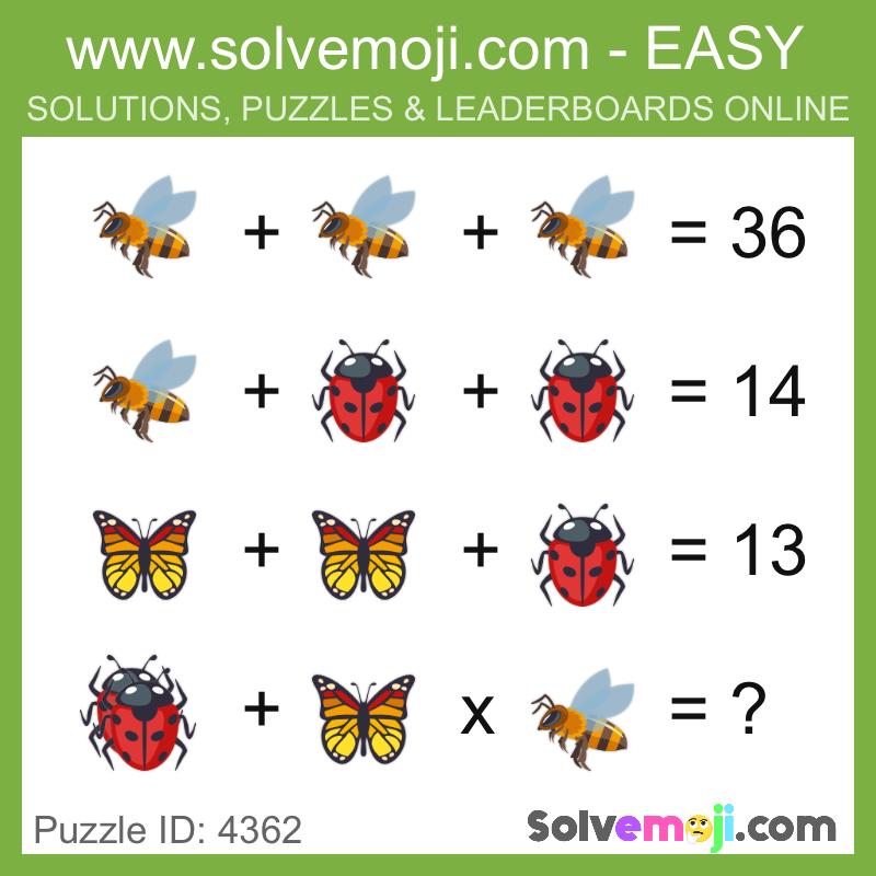 puzzle_4362 | Math Solvemojis | Maths puzzles, Math, Math