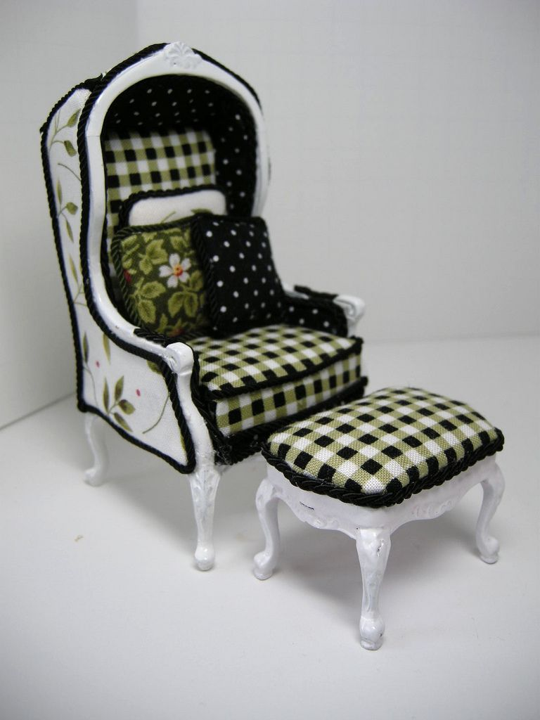 Hooded chair and stool ..