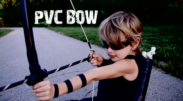 DIY pvc pipe bow. Decorate for boy or girl (Future  BRAVE movie party)