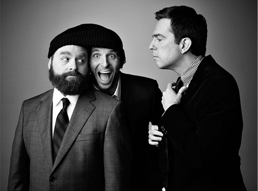 Zach Galifianakis, Ed Helms, and Bradley Cooper