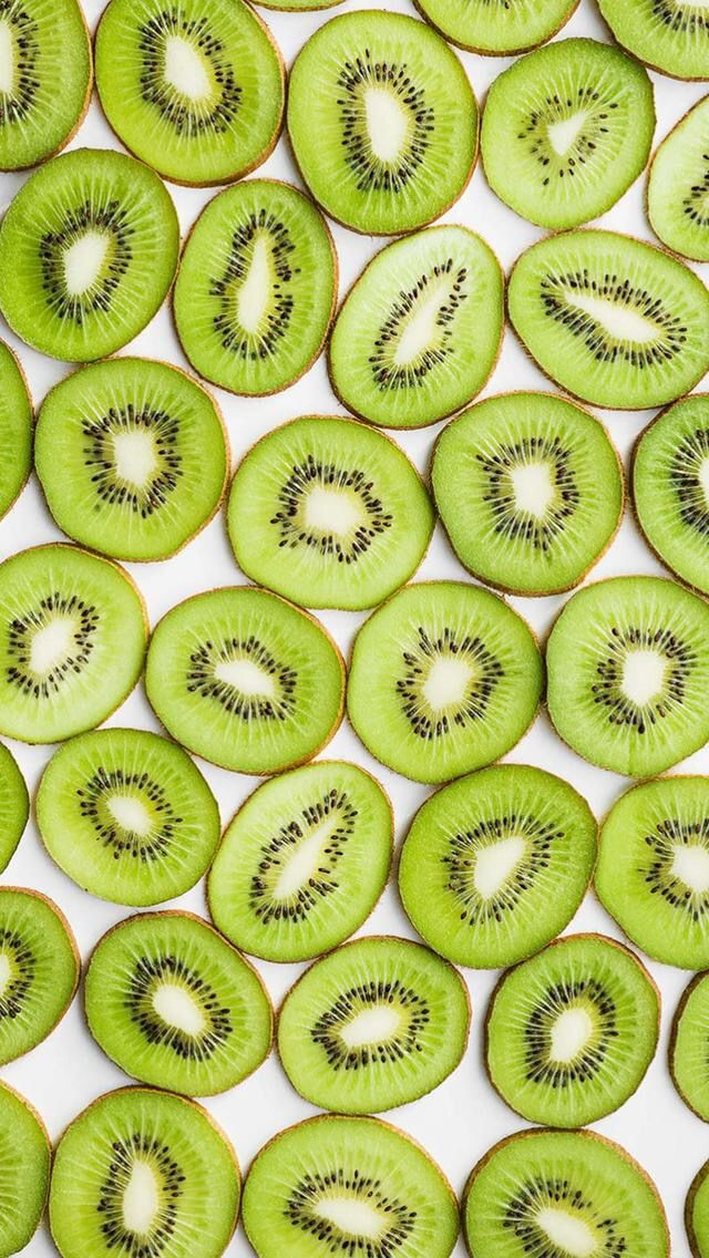 Kiwi Green Color Fresh Summer Vibes Fruit Wallpaper Iphone