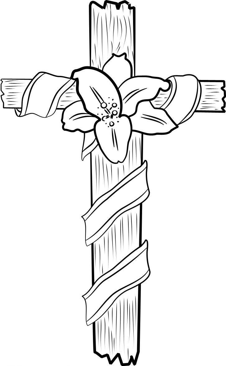 Cross Coloring Page : cross, coloring, Printable, Cross, Coloring, Pages, Page,, Drawing,, Bible