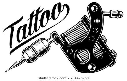 Tattoo Images Stock Photos Vectors Shutterstock Tattoo Machine Design Tattoo Machine Drawing Tattoo Machine