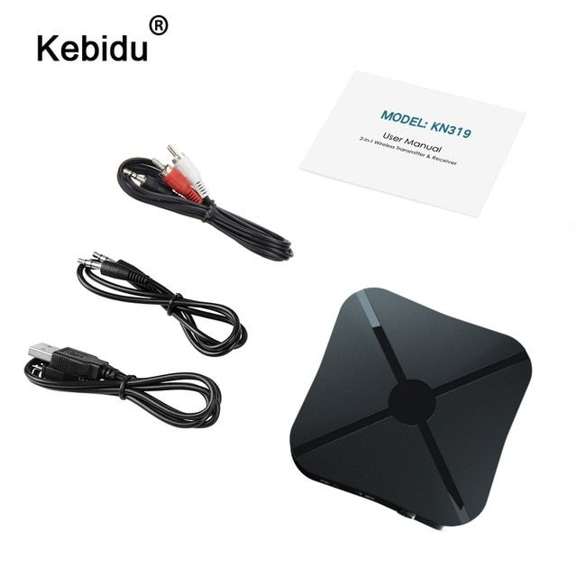 2in1 Wireless Bluetooth 4.2 Audio Transmitter Receiver 3.5mm Adapter AUX for TV