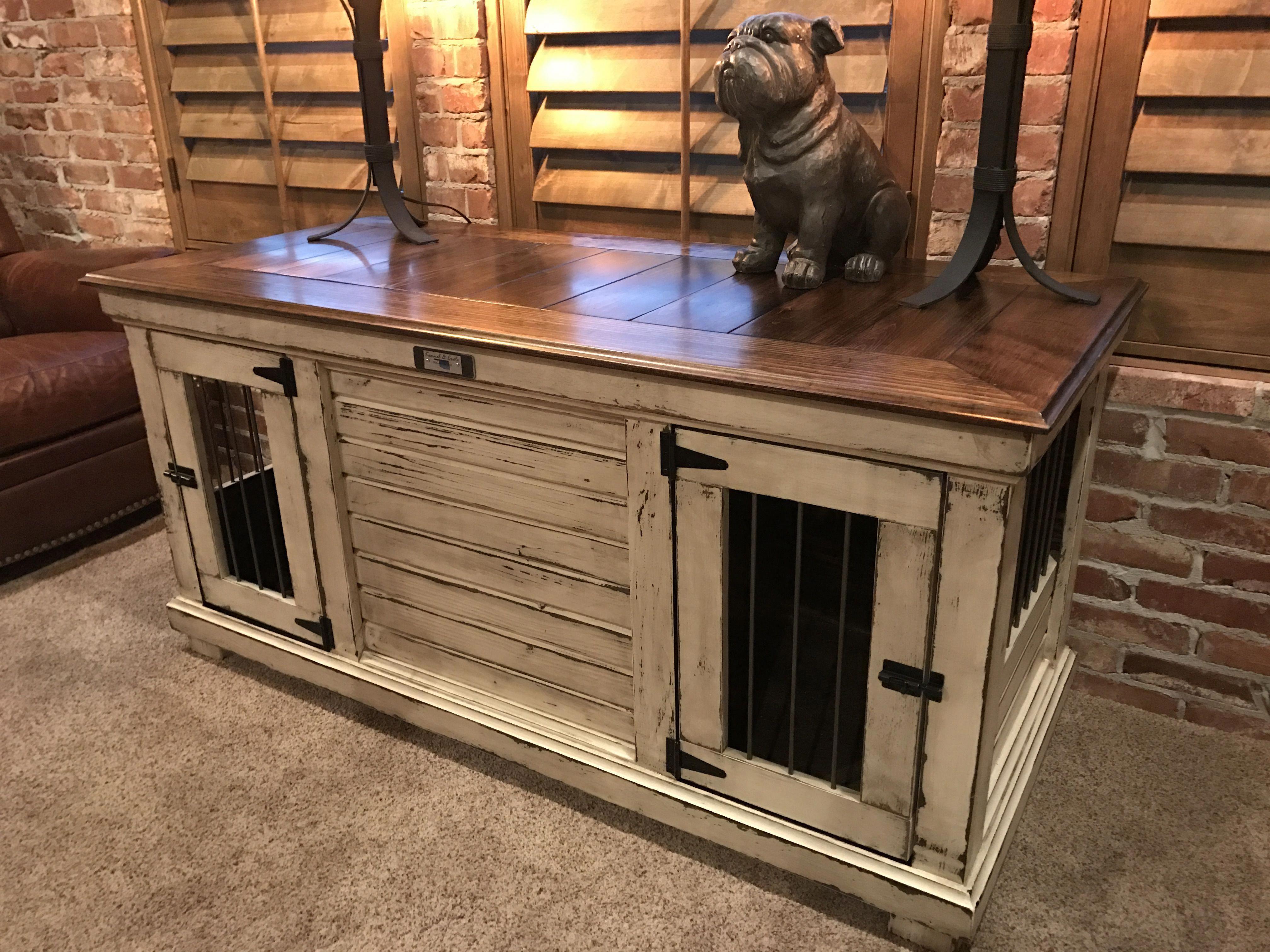 Dog Kennel Entertainment Center Dogkennelentertainmentcenter Dog Crate Furniture Crate Furniture Luxury Dog Kennels