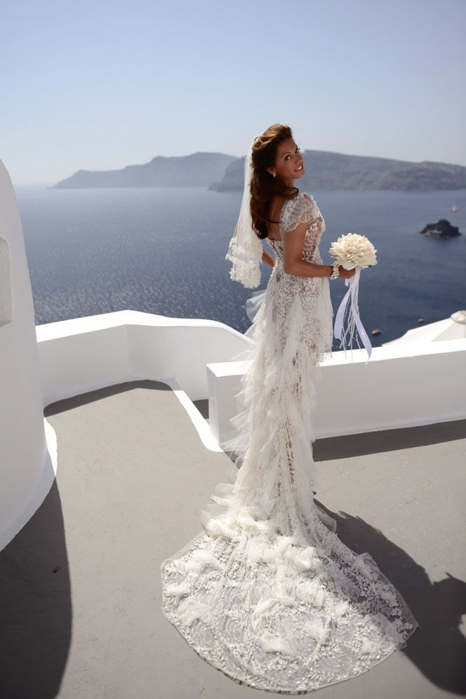 Custom Made Wedding Dress. Protestant Wedding in the Greek Islands ...