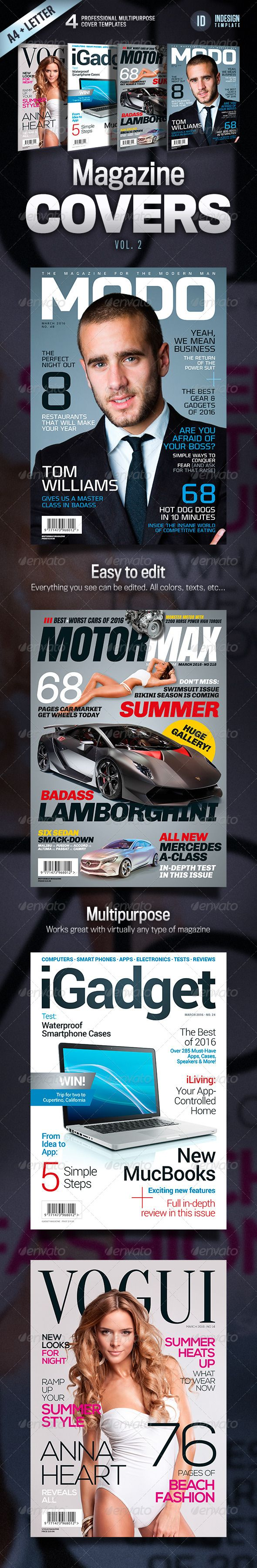Magazine Covers Vol 2 Print Templates Magazine Cover Template