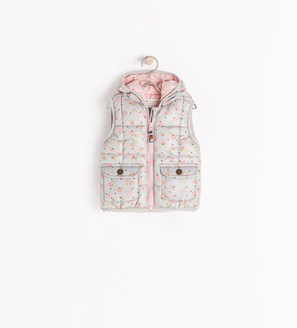 Image 2 of PADDED VEST WITH HOOD from Zara | Baby girl ...