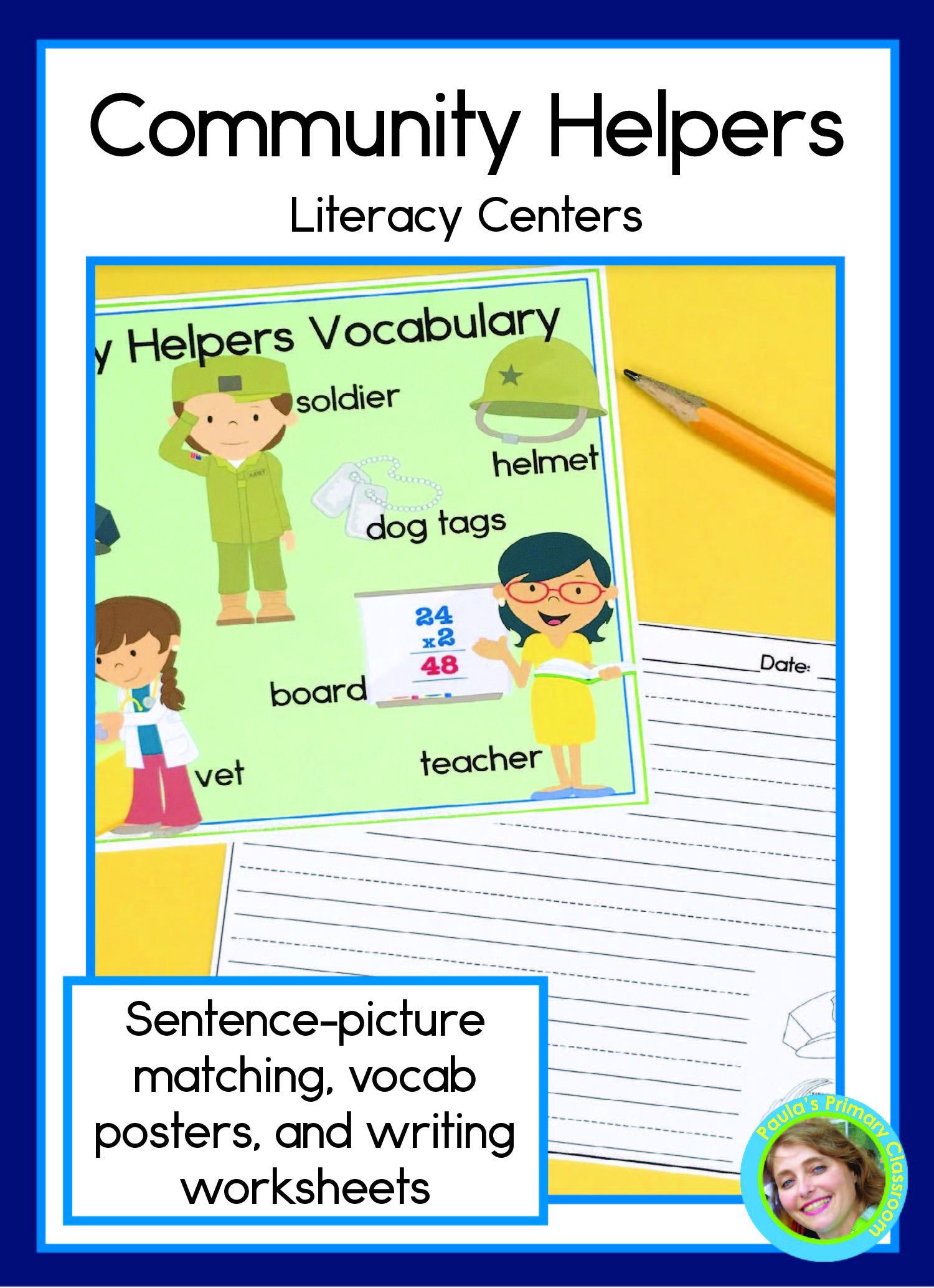 Community Helpers Sentence Picture Match Reading And