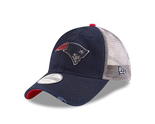 2d8962863 NFL New England Patriots Team Rustic 9TWENTY Adjustable Cap One Size Blue  -- Want additional info  Click on the image.