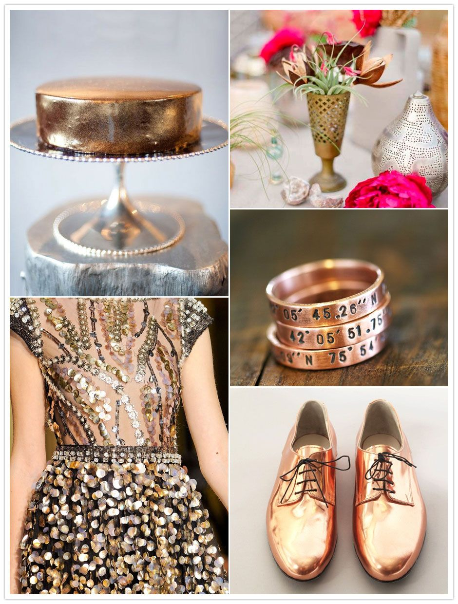 Do we like gold accents more than traditional silver for a winter wedding? What do you think? #bridal #decor #question