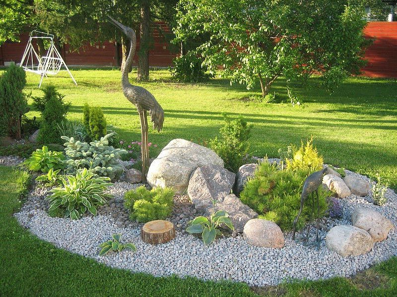 Garden Ideas Pinterest beautiful backyard landscape garden paths garden lighting stone fireplace dining furniture Stunning Rock Garden Design Ideas 6