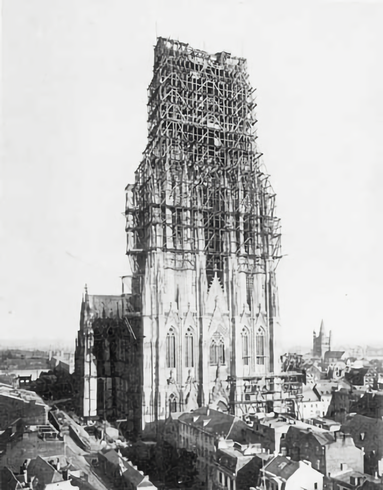 Cologne Cathedral Under Construction 1880 Building Cologne Cathedral German Architecture Dark Art Photography