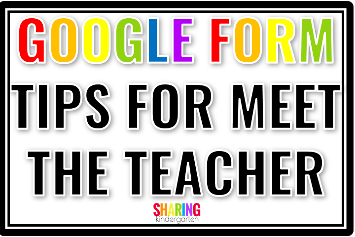 Simple Google Form Tips for Meet the Teacher #meettheteachernight Google Form Tips for Meet the Teacher - This is a great template for planning Meet the Teacher night! #meettheteachernight Simple Google Form Tips for Meet the Teacher #meettheteachernight Google Form Tips for Meet the Teacher - This is a great template for planning Meet the Teacher night! #meettheteachernight