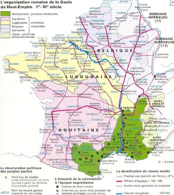 Carte De La Gaule Romaine Carte De La Gaule Gaule Romaine La Gaule