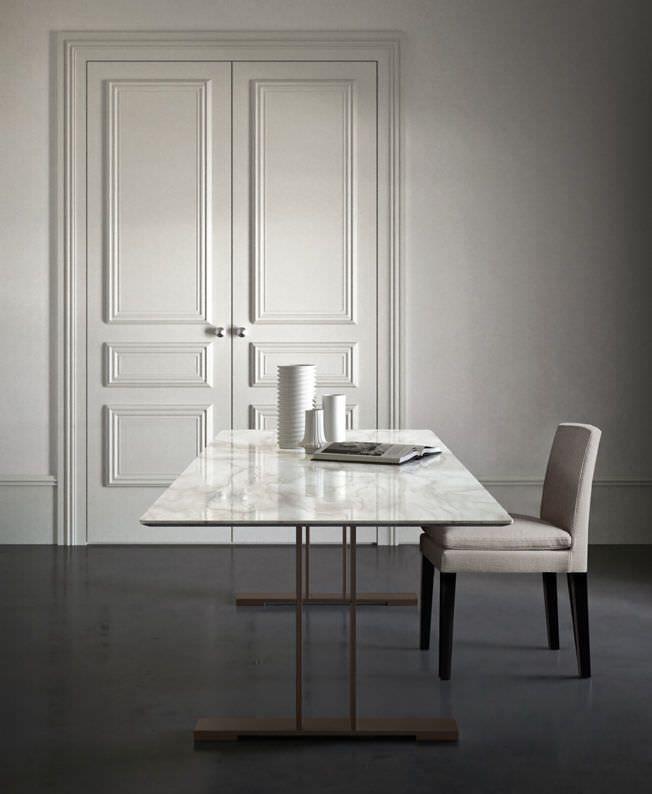Tavolo moderno / in marmo / rettangolare SANTIAGO by ...