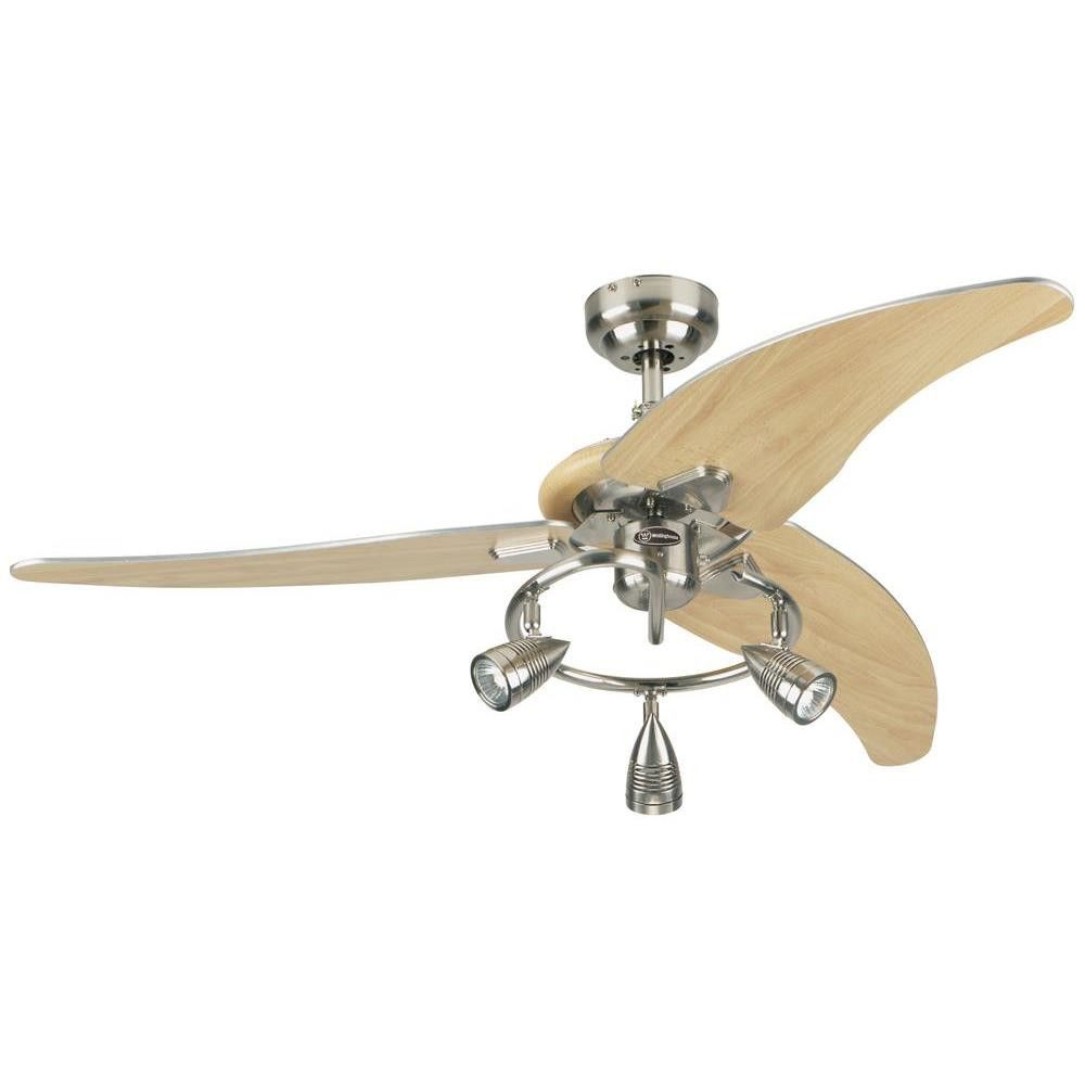 Westinghouse lighting 48 elite 3 blades ceiling fan lighting 2 shop for the westinghouse 7850500 brushed nickel elite 3 blade hanging indoor ceiling fan with reversible motor blades light kit and down rod included aloadofball Images