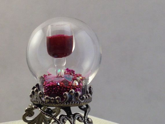 Hey, I found this really awesome Etsy listing at https://www.etsy.com/listing/178652187/red-wine-glass-snow-globe-ring-free-us