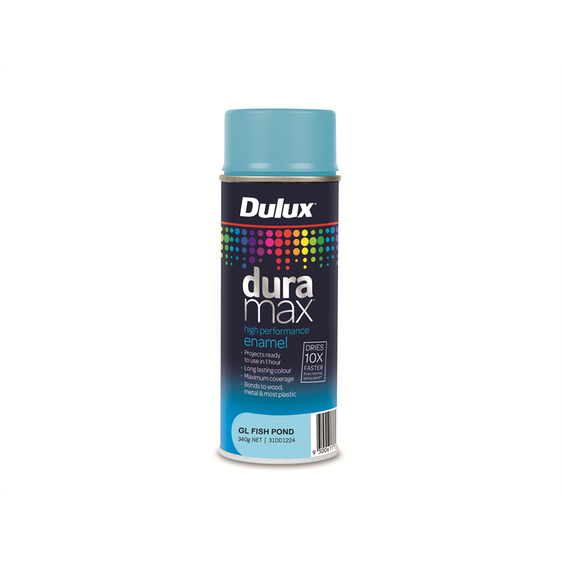 Dulux Duramax 340g Gloss Fish Pond Spray Paint Bunnings Warehouse Gloss Spray Paint Blue Spray Paint Dulux