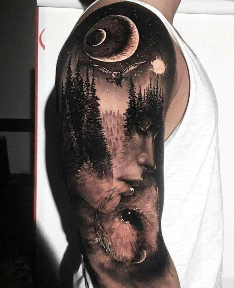 Whaaaaaat Tatuajes Forestales Tatuaje De Paisaje Tatuajes