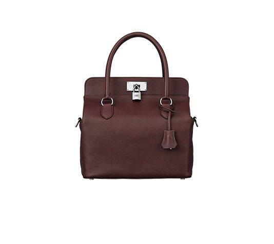 e4580ceefe81 Toolbox Hermes bag in prune swift calfskin Measures 10