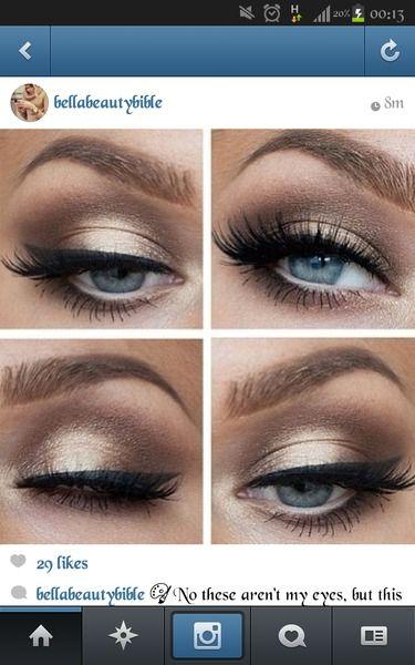 Makeup Ideas For Cobalt Blue Dress With Gold Embellishment